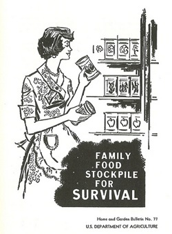 Retro Family Food Stockpile for Survival